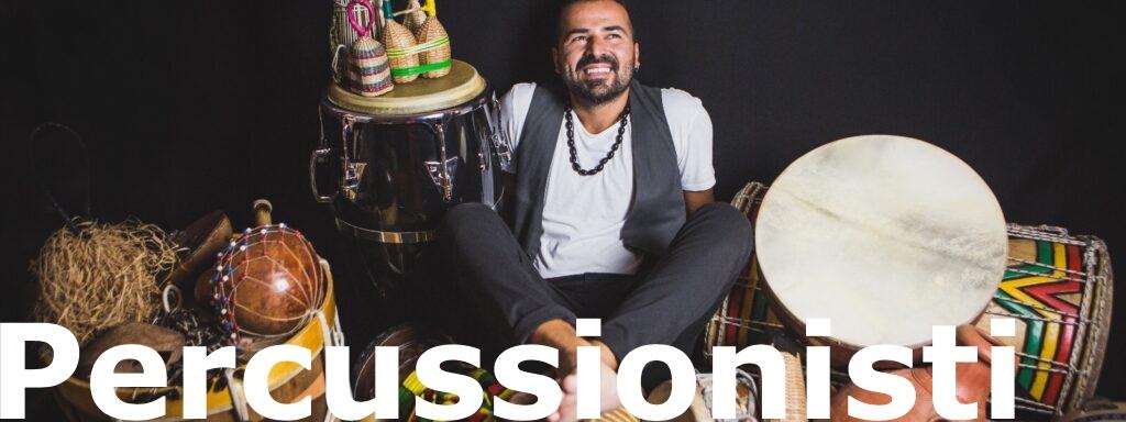 Percussionista afro e ritmi latini