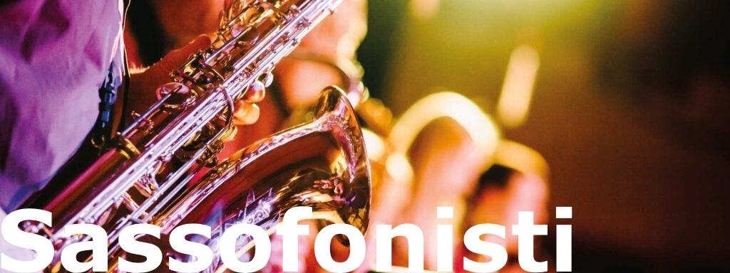Sassofonisti per matrimonio, sax alto, tenore e soprano